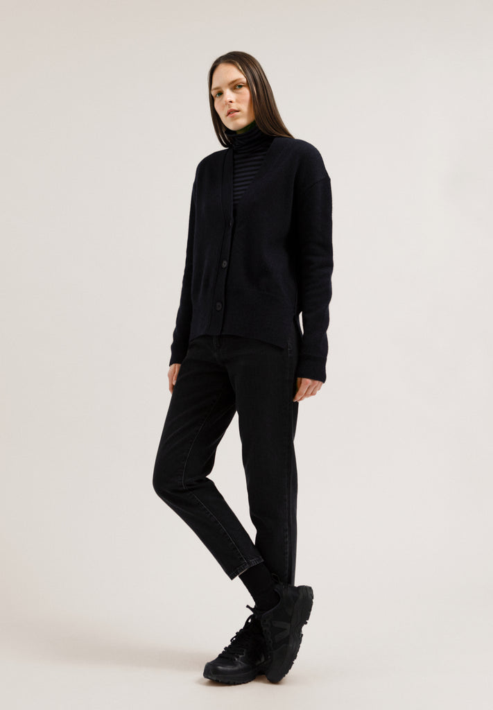 ARMEDANGELS Olenkaa mouliné cardigan night sky black