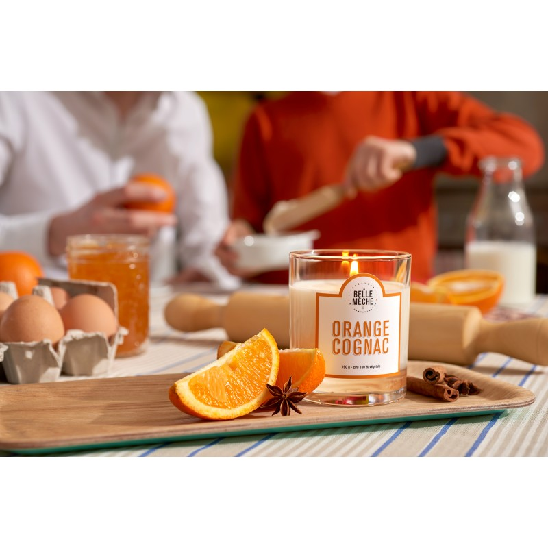 LA BELLE MECHE Orange Cognac Scented candle