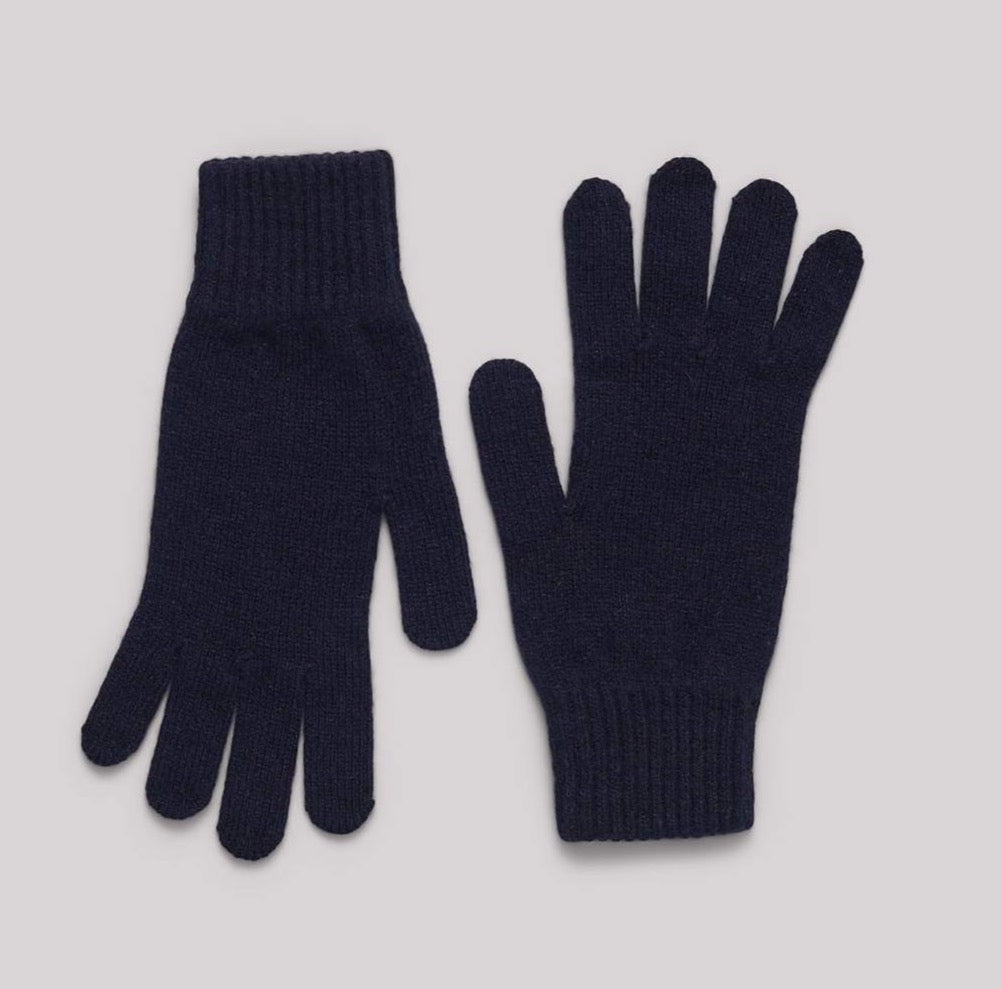 Organic Basics Recycled Cashmere gloves black small