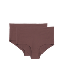 Organic Basics Invisible Cheeky High Rise 2-Pack Cocoa Brown