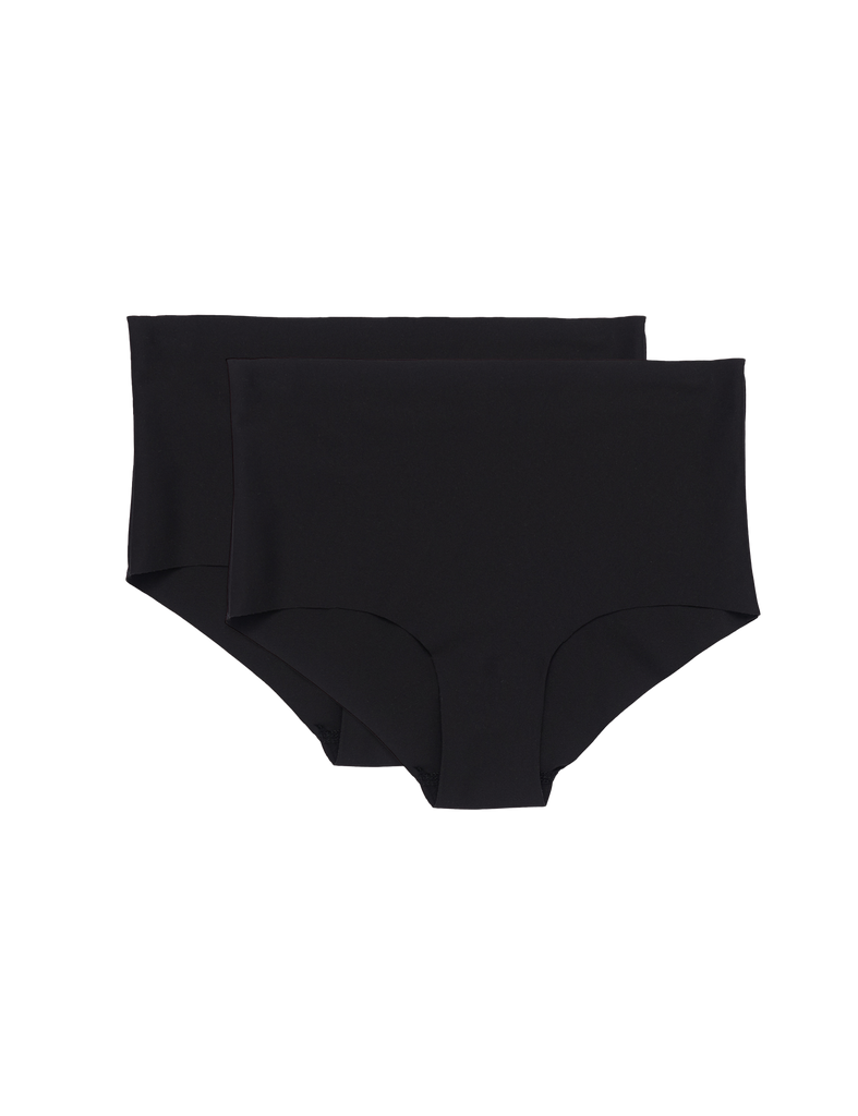 Organic Basics Invisible Cheeky High Rise 2-Pack Black