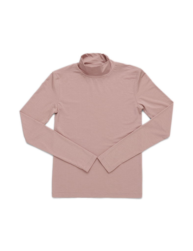 Organic Basics Soft Touch Turtleneck Dusty Rose