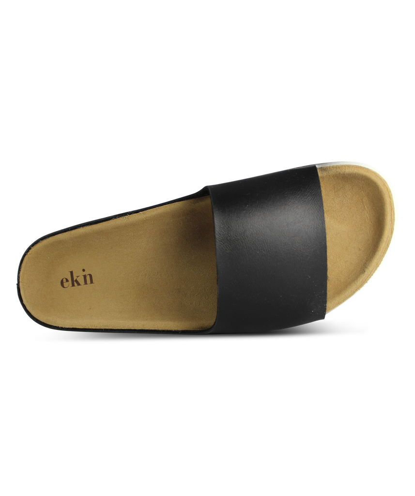 ekn Palm sandal black vegan