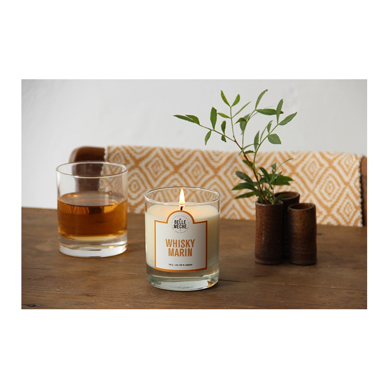 LA BELLE MECHE Peated Wisky Scented candle