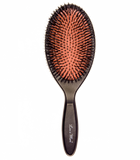 Less Is More Oval Brush Beech Black wild boar bristle/nylon