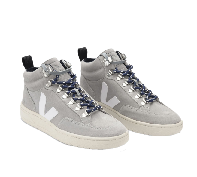 VEJA Roraima Suede Oxford Grey White women