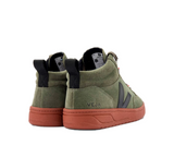 VEJA Roraima Suede Olive Black Rust Sole Women