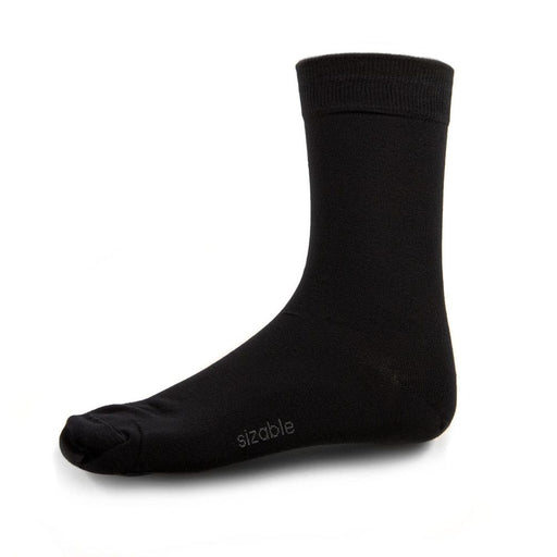 SIZABLE 2-pack Bamboo Socks pure black