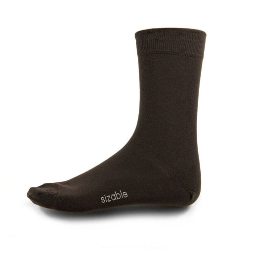 SIZABLE 2-pack Bamboo Socks dark brown
