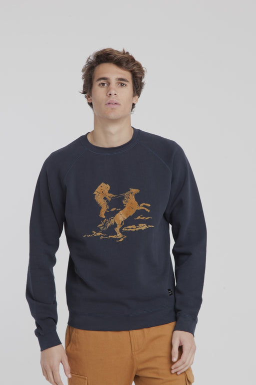 THINKING MU Space Rider Raglan Sweatshirt