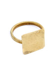 PEOPLE TREE Square ring brass Y452UA