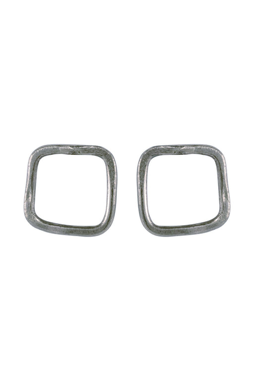 PEOPLE TREE Square Stud Earrings Silver