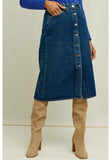 PEOPLE TREE Stacey denim midi skirt Y170UA.BL1