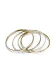 PEOPLE TREE Stackable bangle set of 4 Silver Y462UA
