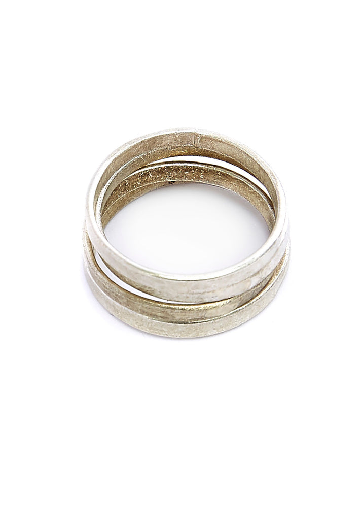 PEOPLE TREE Stackable Ring set of 4 Silver Y461UA