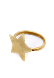 PEOPLE TREE Star ring brass Y472UA