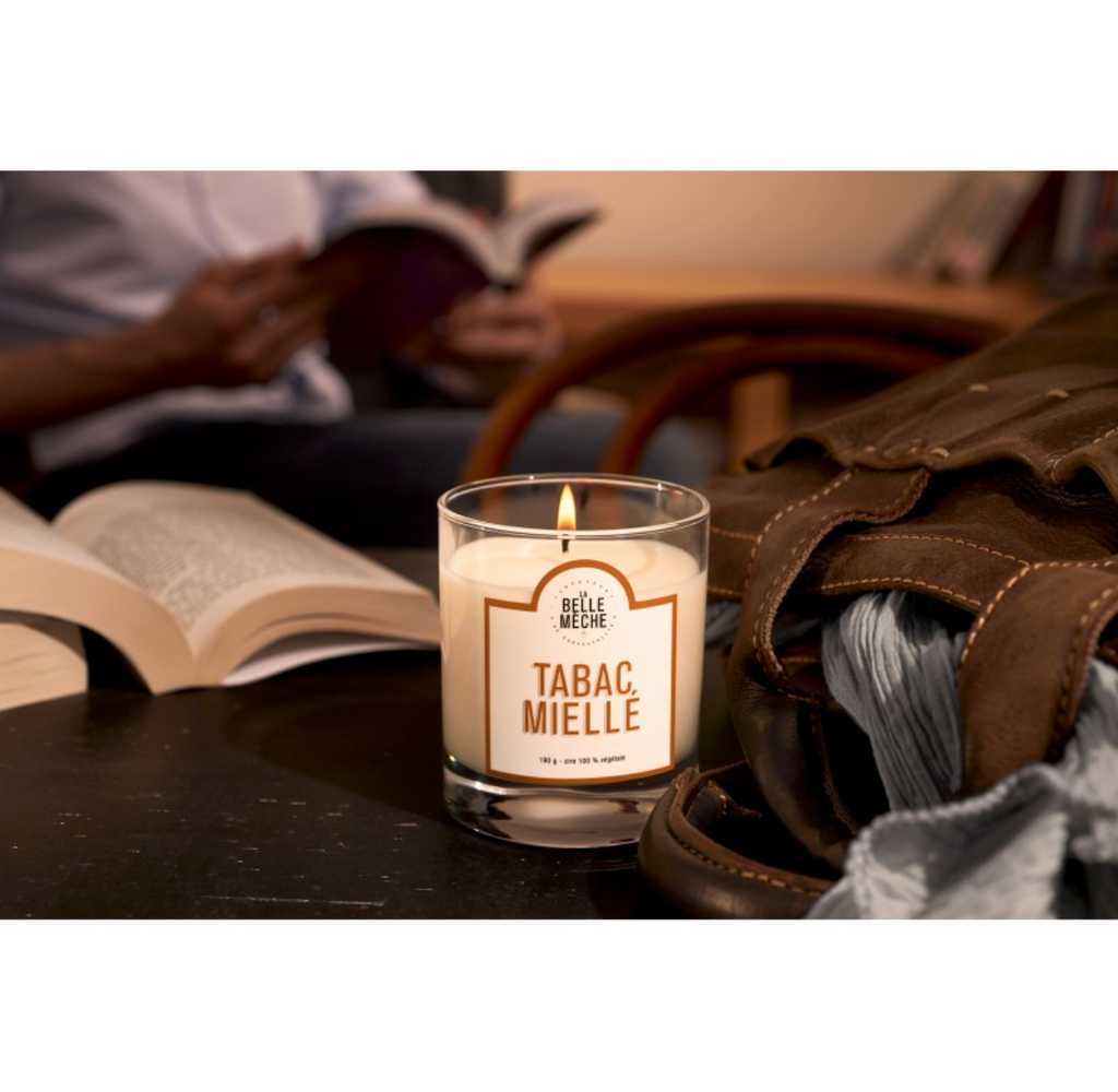 LA BELLE MECHE Tabacco Honey Scented candle