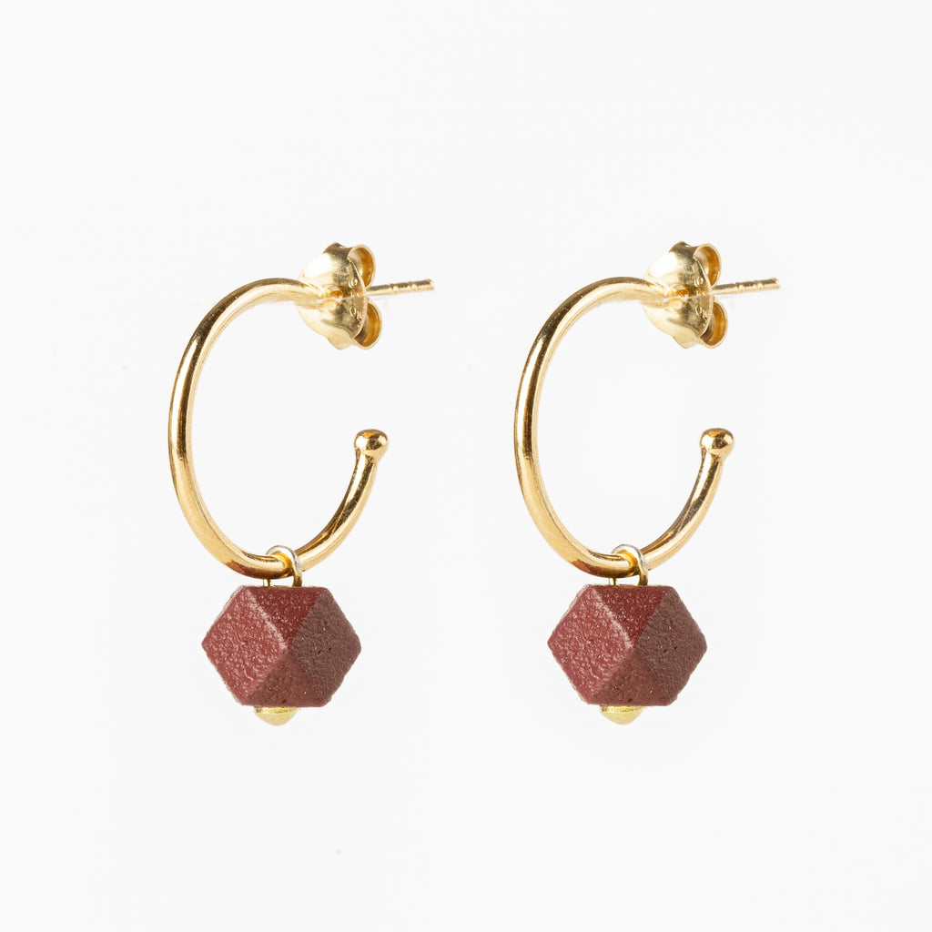 Jacqueline & Compote Hexagon Earrings Terra