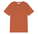 THINKING MU Hemp T-shirt terracotta
