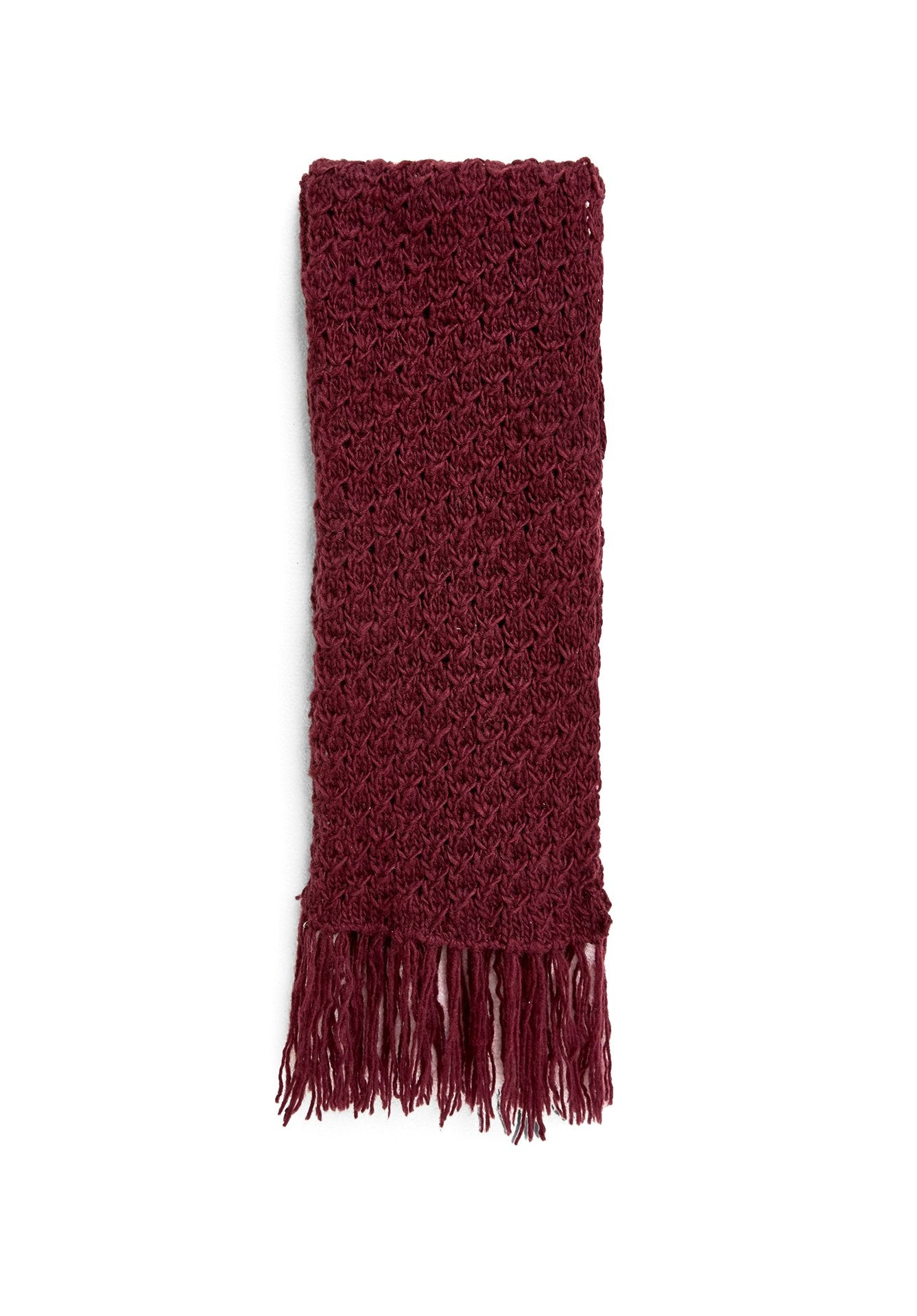 PEOPLE TREE Textured scarf burgundy
