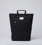 SANDQVIST Tony Black with black leather Backpack