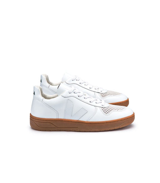VEJA V-10 Extra White Natural Sole Men