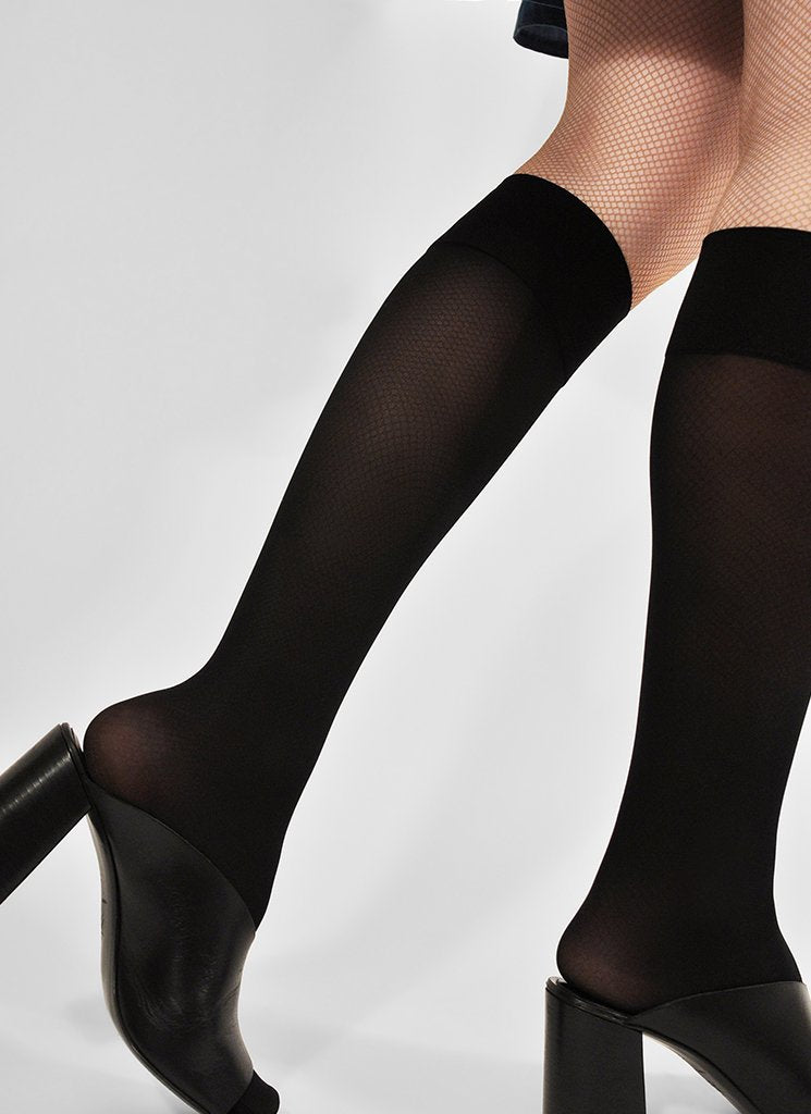 Swedish Stockings Irma support knee high black