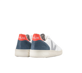 VEJA V-10 Extra white Oxford Grey Orange Fluo women