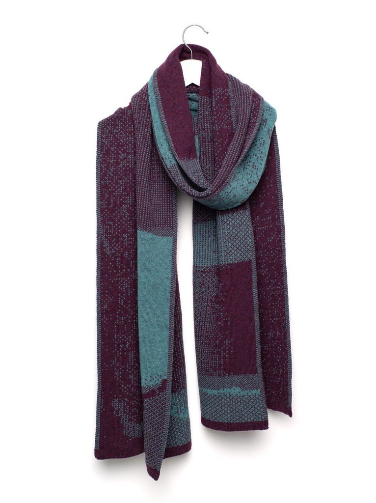 WOLVIS 4th of September '90 scarf olive green aubergine