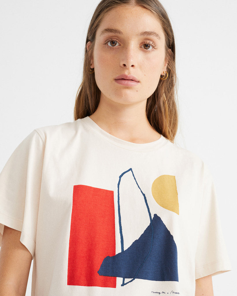 THINKING MU Abstract T-shirt bone Women