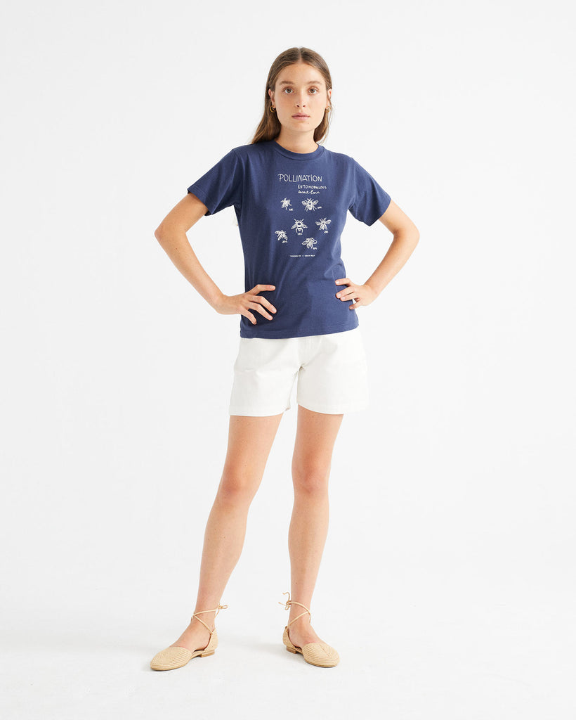 THINKING MU Bees T-shirt navy Women