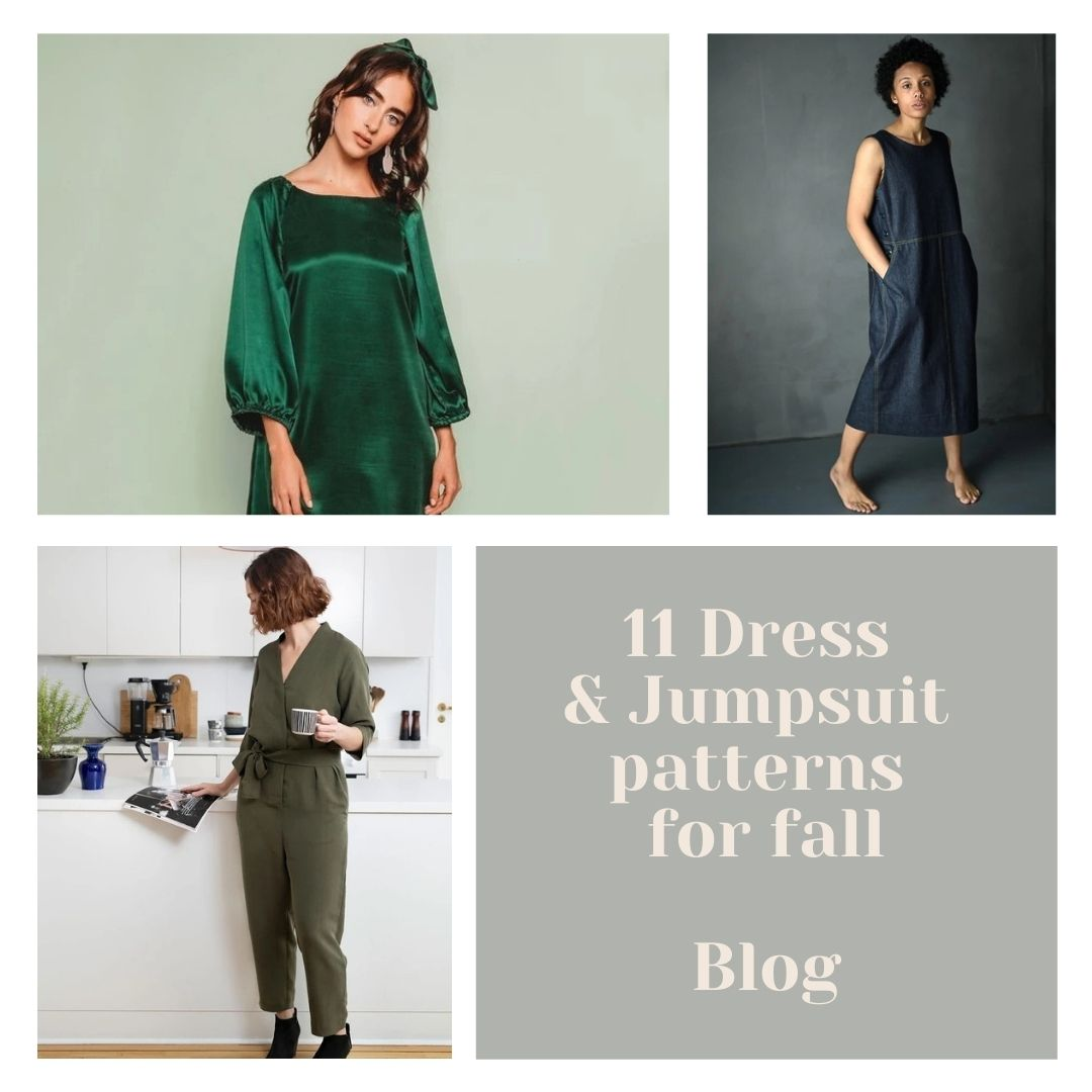 11 dress and jumpsuit patterns for fall