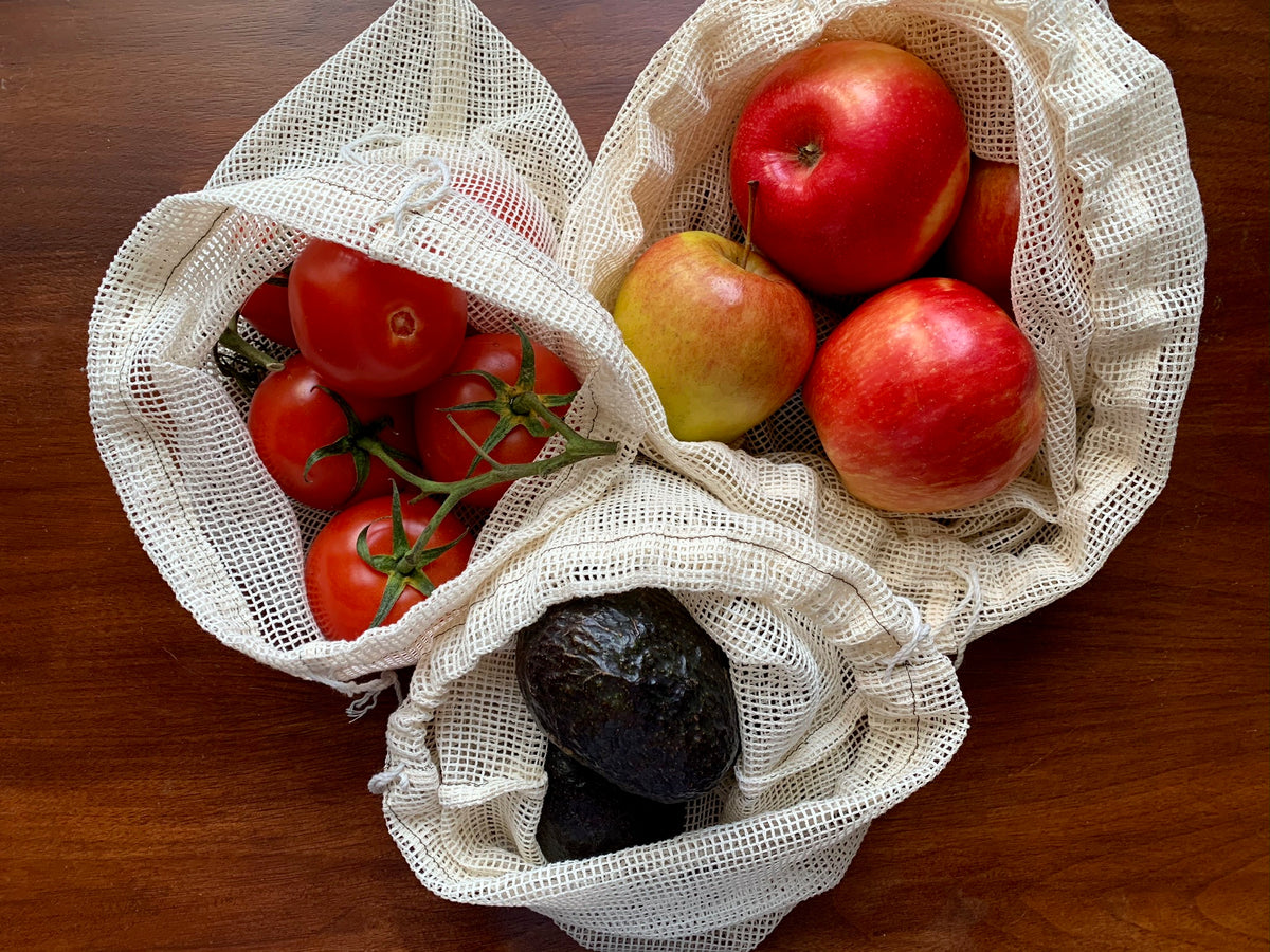 the simplest organic cotton mesh reusable produce bag- DIY