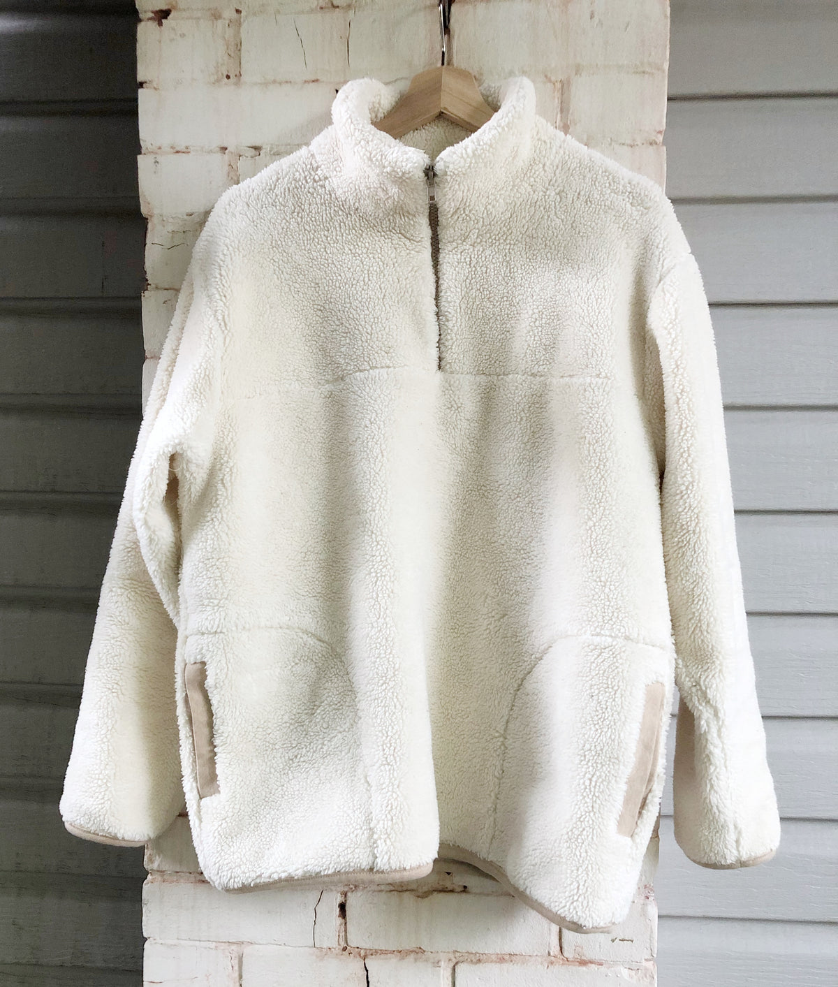 Patagonia Style Pullover in Organic Cotton Sherpa