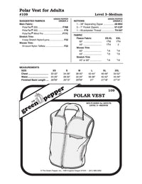 Adult's Polar Vest Pattern - 109 - The Green Pepper Patterns