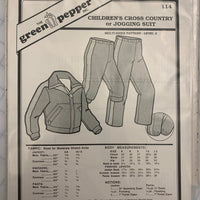 Kid's Cross Country or Jogging Suit Pattern - 114 - The Green Pepper Patterns