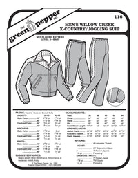 Men's Cross Country or Jogging Suit Pattern - 116 - The Green Pepper Patterns