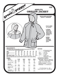 Adult's Oregon Jacket Pattern - 122 - The Green Pepper Patterns