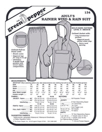 Mens's Rainier Wind & Rain Suit Pattern - 134 - The Green Pepper Patterns