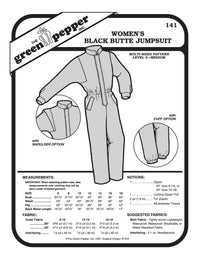 Women's Black Butte Jumpsuit Pattern - 141 - The Green Pepper Patterns