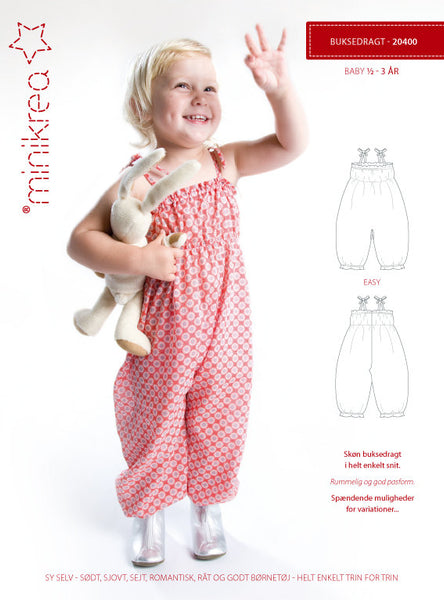 Trouser Suit / Playsuit - 20400 - Minikrea sewing pattern - 6mo-3yrs (4823.90.00.95)