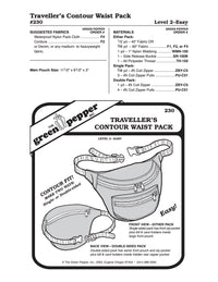 Traveller's Contour Waist Pack / Fanny Pack Pattern - 230 - The Green Pepper Patterns