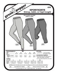Adult's Sport Tights Pattern - 406 - The Green Pepper Patterns