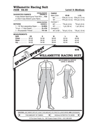Adult's Willamette Racing Suit Pattern - 408 - The Green Pepper Patterns
