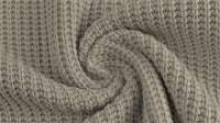 Cotton Cable Sweater Knit - Grey