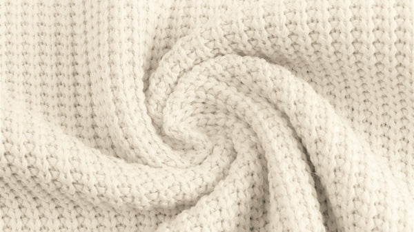 Cotton Cable Sweater Knit - Off White