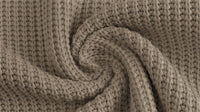 Cotton Cable Sweater Knit - Taupe