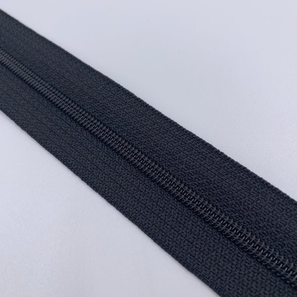 #4 Coil Zipper - Black - By The Yard