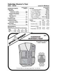 Adult's Oakridge Hunter's Vest Pattern - 501 - The Green Pepper Patterns