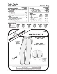Adult's Polar Pants Pattern - 505 - The Green Pepper Patterns